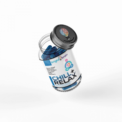 Chill & Relax Nootropic Bottle Tilted